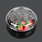 Round plastic disposable food divid tray container containers