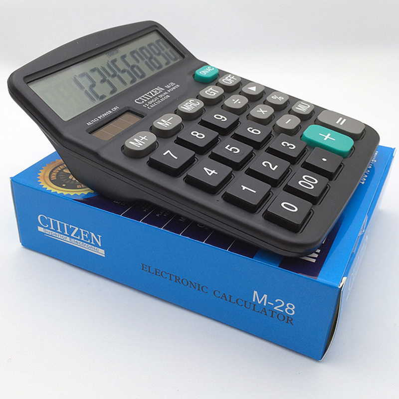 Hot selling Scientific calculator 12 digits two way power Electronic bare solar cell graphing citizen financial smart mini