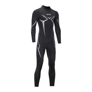 Ultra Stretch 3mm Neoprene Wetsuit, back Zip Full Body Diving scuba wetsuit for Men-Snorkeling, Swimming, Surfing