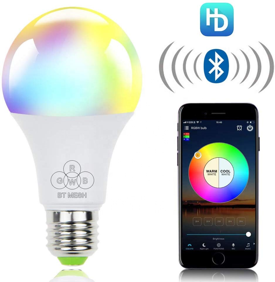 New product 4.5W LED <strong>Bulb</strong> Speaker color changing RGB Smart Music <strong>Bulb</strong> E27 Remote Control Voice Control