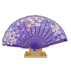 Fan Material Fanfanplastic Frame Silk Cloth Plastic Wholesale Latest Designs Colorful Printed Wedding Folding Fan Hand Bamboo Material Cute Hand Fan
