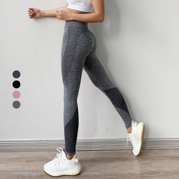 Bodybuilding hip lifting stretch fitness leggings sports tight running training compression yoga pants women apparel