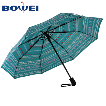 High quality cheap outdoor folding umbrella for both rain and sun