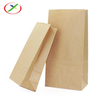 Custom Brown Kraft Paper Cheap Food Pack Bakery Bread Packaging Bulk Packaging Bag For Hamburger