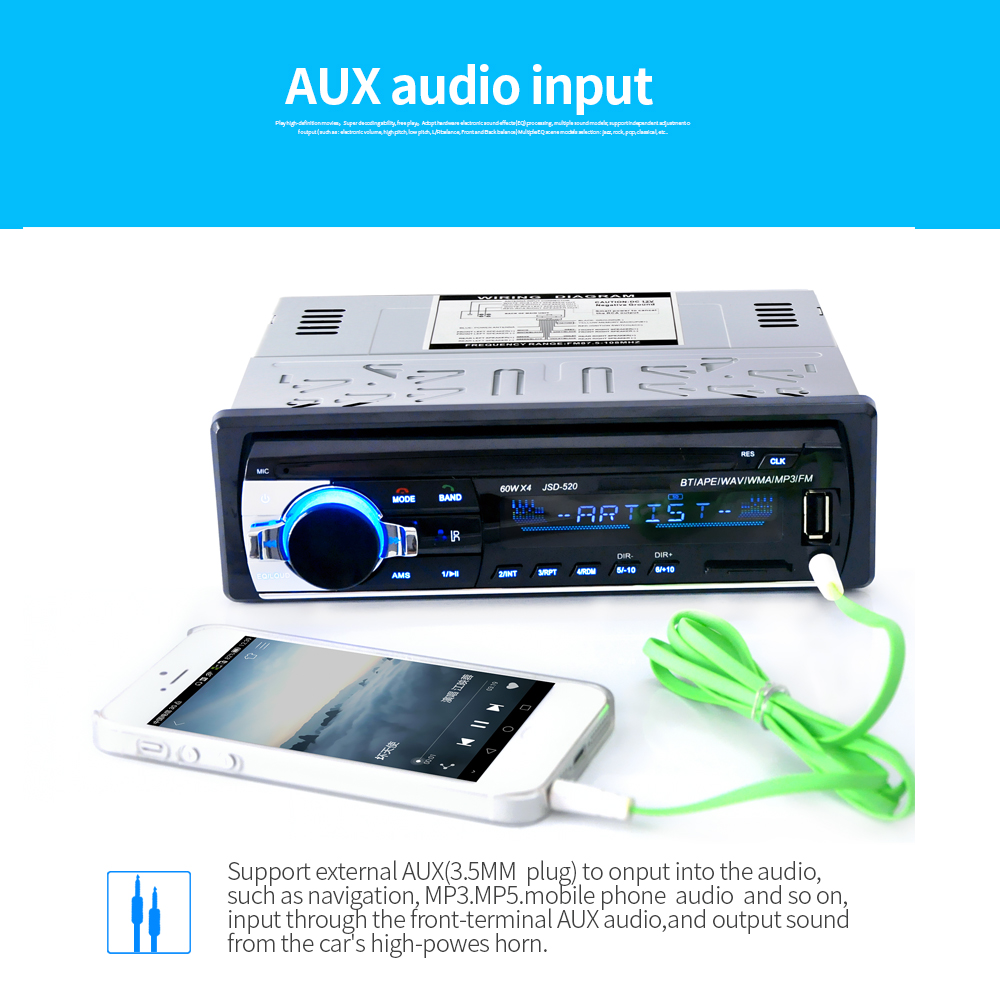Top verkauf control digitale musik radio auto mp3 player mit bluetooth