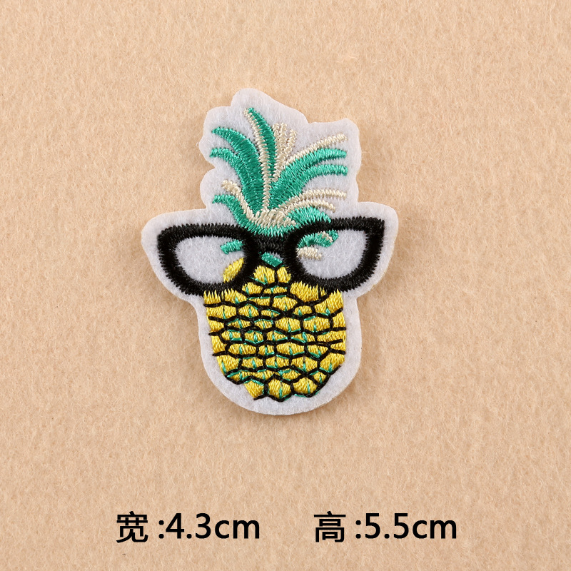 GUGUTREE one set embroidery foods patch cartoon patches badges applique patches for clothing DK-16