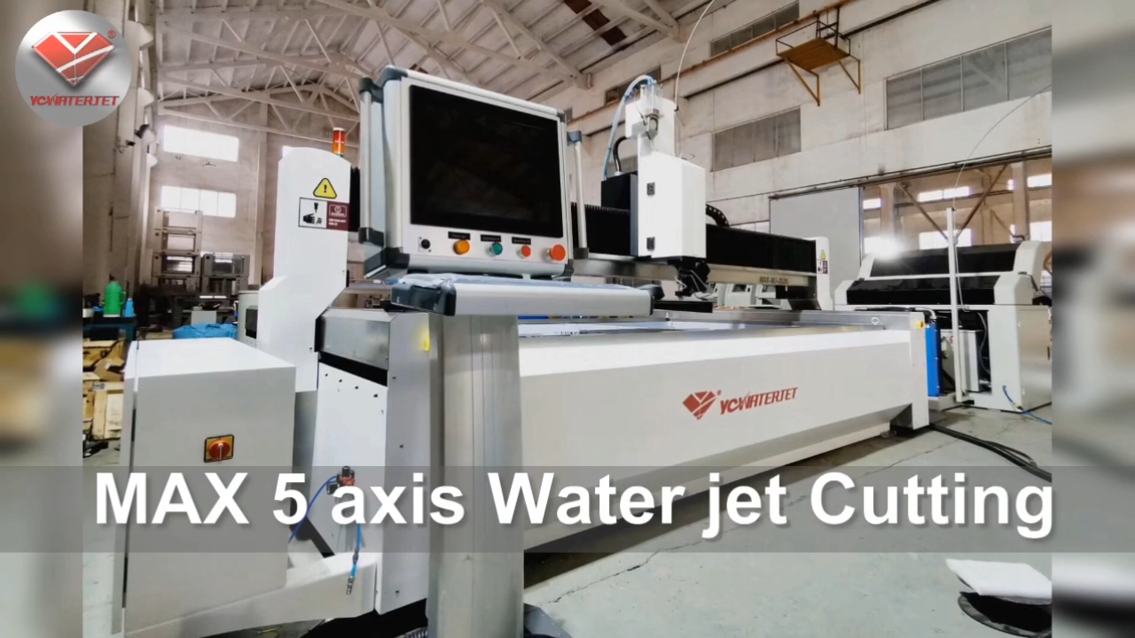 YC عالية السرعة 3D 5 محور جهاز تقطيع مائي cnc