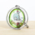 VOGRACE Hot sale Custom Acrylic Two Sided Printing Acrylic Keychain Charms rotation metal frame keychain
