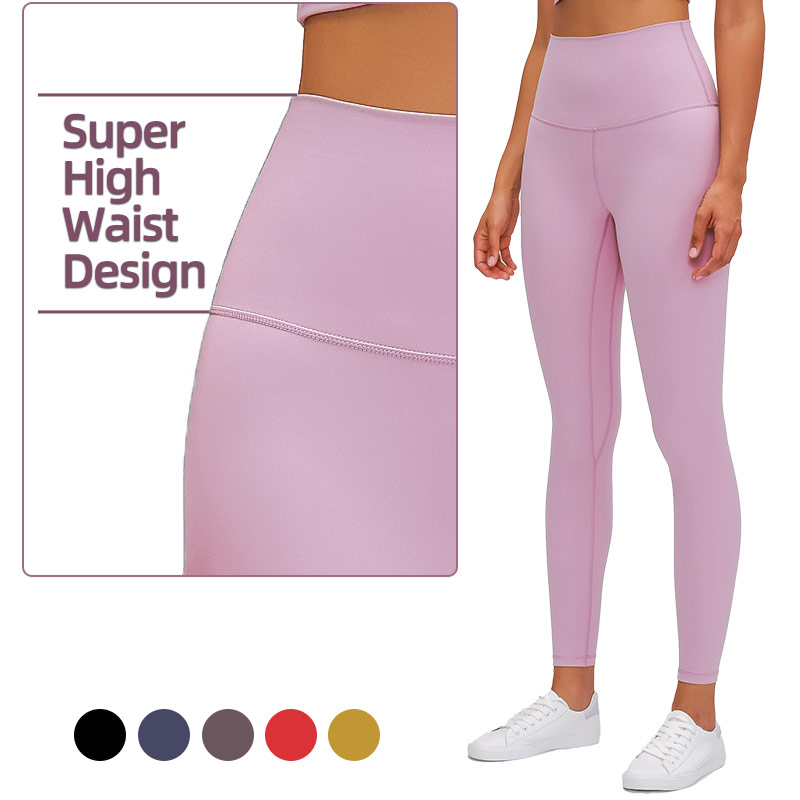 Newest 13cm Super High Waist Design Nude Feel Yoga Leggings Ankle Pants For Women Workout Fitness Gym Wear