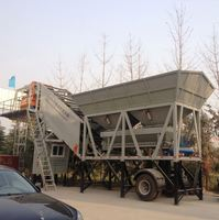 Hot Sale Semi-Trailing Mobile Concrete Batching Plant 50M3/H In India