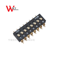 PCB high quality 2.54mm micro slide switch 8 ways dip switch