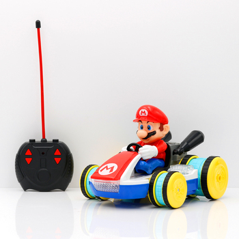 2.4GHz Full function radio control cartoon car mario luigi action figure rc car with light and sound rc toy