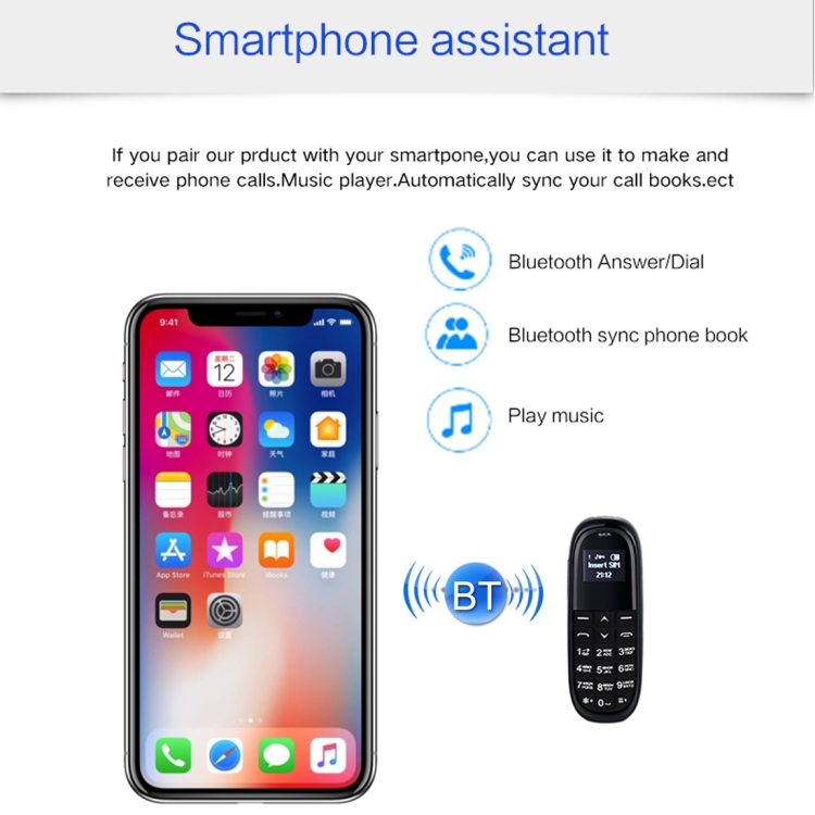 Dropshipping English Keyboard AIEK KK1 Mini GSM Mobile Phone for Christmas Gift