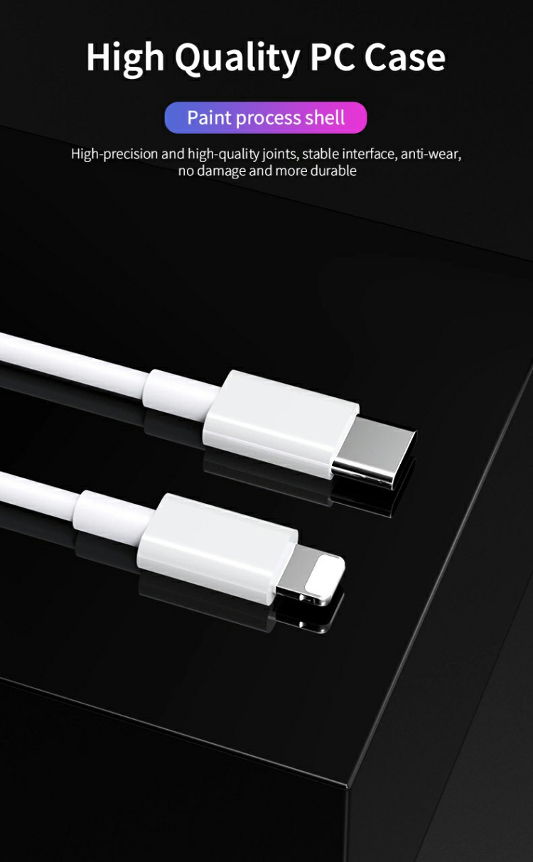 Essager 2019 nuevo Cable adaptador Usb 18w tipo C a Lightning para Iphone