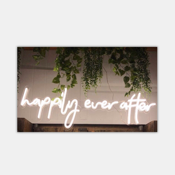 factory cheap price custom happily ever after acrylic neon flex sign