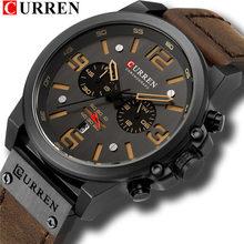 Топ бренд класса люкс CURREN 8314 Модные кварцевые мужские часы с кожаным ремешком повседневные деловые мужские наручные часы Montre Homme(Китай)
