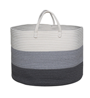 Decorative Extra Large Cotton Rope Basket with Long Handles