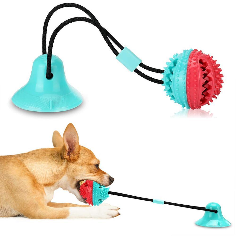 दांत सफाई पालतू खिलौने पिल्ला कुत्ते चबाने खिलौने पालतू कुत्ते खाद्य लीक गेंद कुत्ते प्रशिक्षण व्यवहार करता है शुरुआती रस्सी खिलौने
