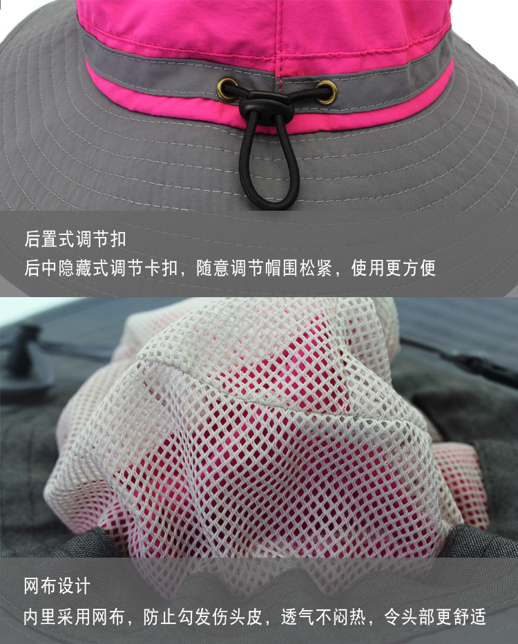 Wide Brim Quick Drying Bucket Hat Breathable Foldable Sunshade Safari Hat Wholesale Reflective Floppy Sun Hats for Women