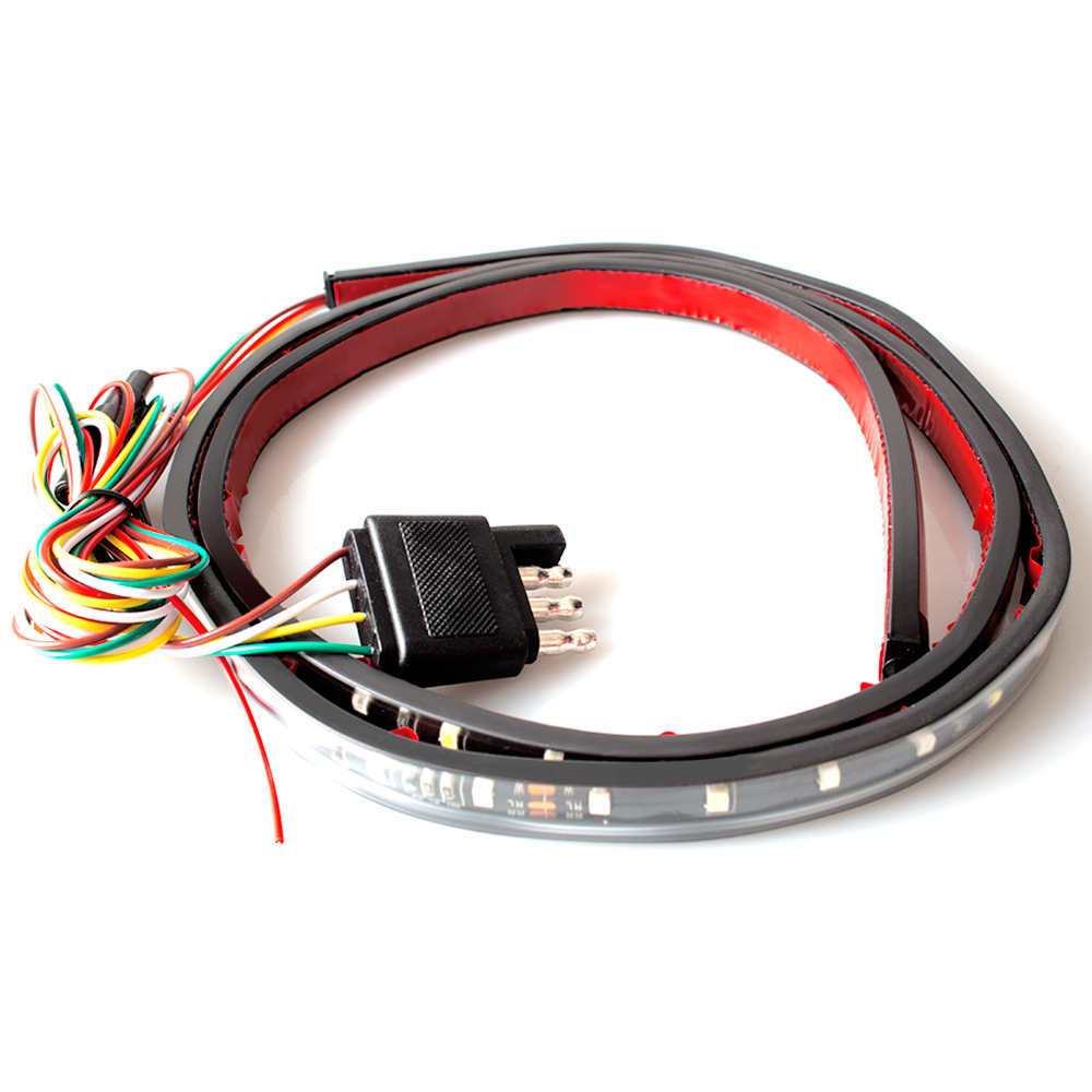 high-power 60 inch led flexi-stri 12V led taillight strip 4 light model with red turn light stoplight  car LED tail light strip