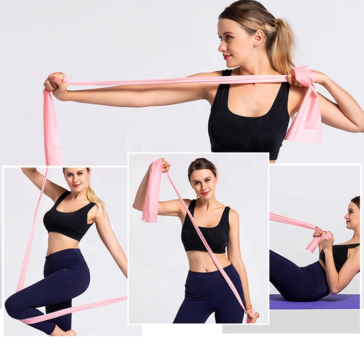 <strong>Weight</strong> Lifting Resistance Bands Set of Long Fitness Stretch Bands Home Gym Kit For Strength Training