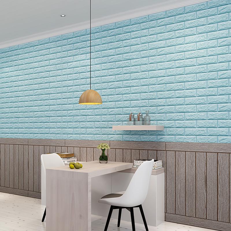 Fast Delivery  Sound-Absorbing 3D Brick Wallpaper Distributors wallpaper self adhesive panel sticker