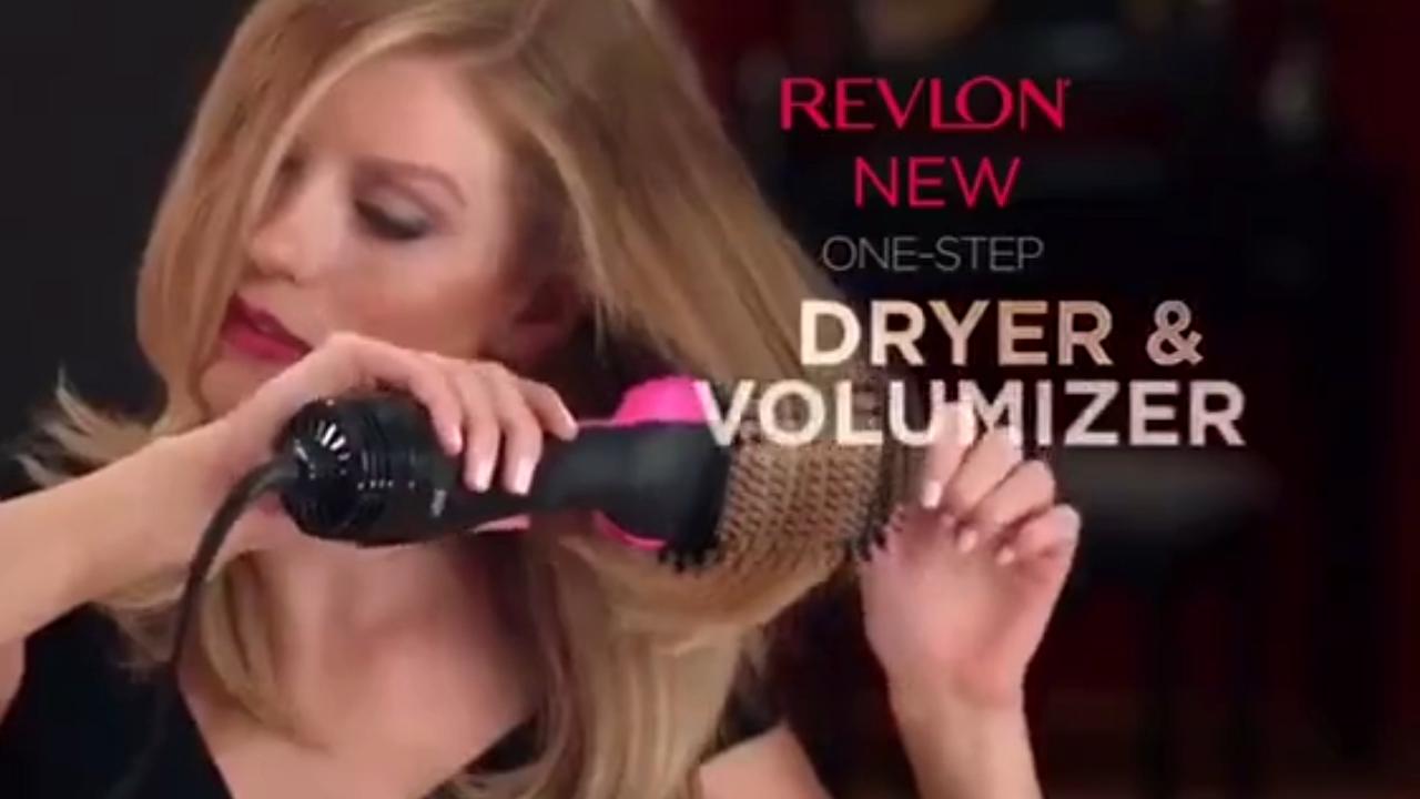 Ionic Hair Curling Straightening Brush One Step Hair Dryer