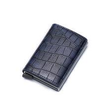 DIENQI анти-id кредитный держатель для Карт Rfid, кожаный держатель для карт, алюминиевый металлический кошелек, держатель кредитной карты держат...(Китай)
