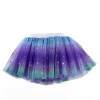 Factory Wholesale Fashion Pentacle Sequins Child Girls Short Tutu Skirts