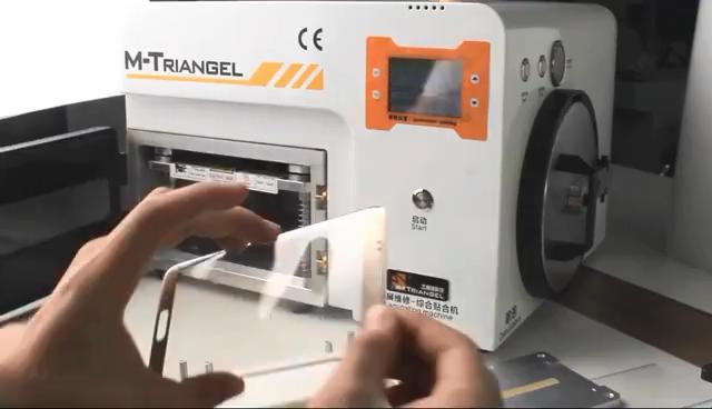 Оригинальный M-triangel вакуумная ОСА ламинатор для изогнутого экрана Встроенный пузырьковый Lcd ремонтирующая машина для удаления волос