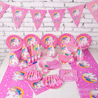 Nicro New Product 90 Pcs Serve 6 Kid Unicorn Theme Birthday Party Decoration Favors Supplies Set