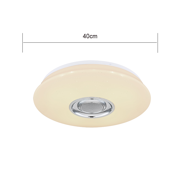 Hot sale low price 40 cm smart app rgb remote control music bluetooth led ceiling lamp