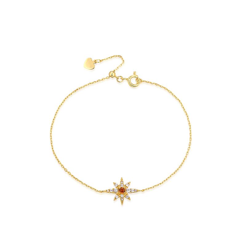 Charme personnalisé Fabricant de Bracelet En Argent Sterling 925 étoile bleu topaze blanc plaqué or bracelets