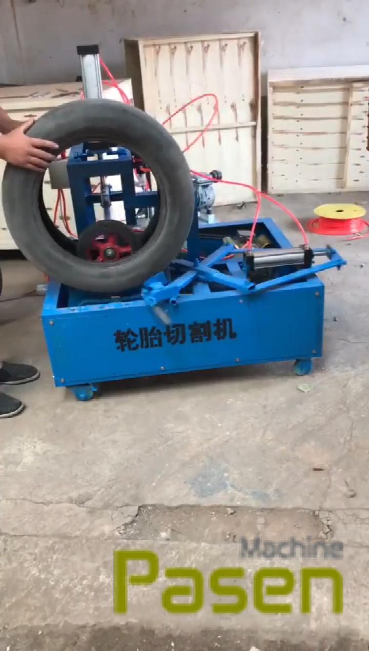 Old Tire Circle Cutting Recycling Machine waste tire tread sidewall cutter Machine Tire sidewall cutting machine