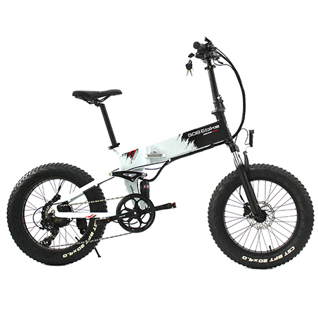 GPS Electric Bike Fatbike Foldable Folding 20inch Tire 4.0 Fat Tyre Pedelec