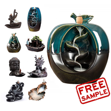 ฟรีตัวอย่าง bakhoor Oud Burner incense cones Burner Apple ธูป Burner