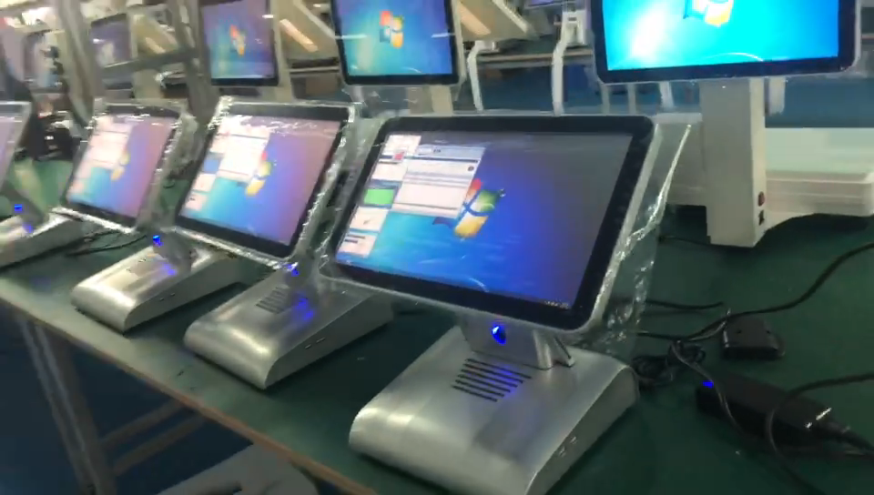 15 ''+ 11.6'' Tablet POS Terminal Bis System Touch Screen Shop Cash Register