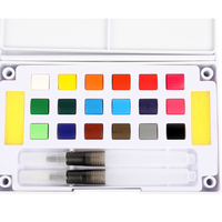 Wholesale Professional Artist Cake Plastic Water Color Palette Various Types Paint Set Watercolor Paint