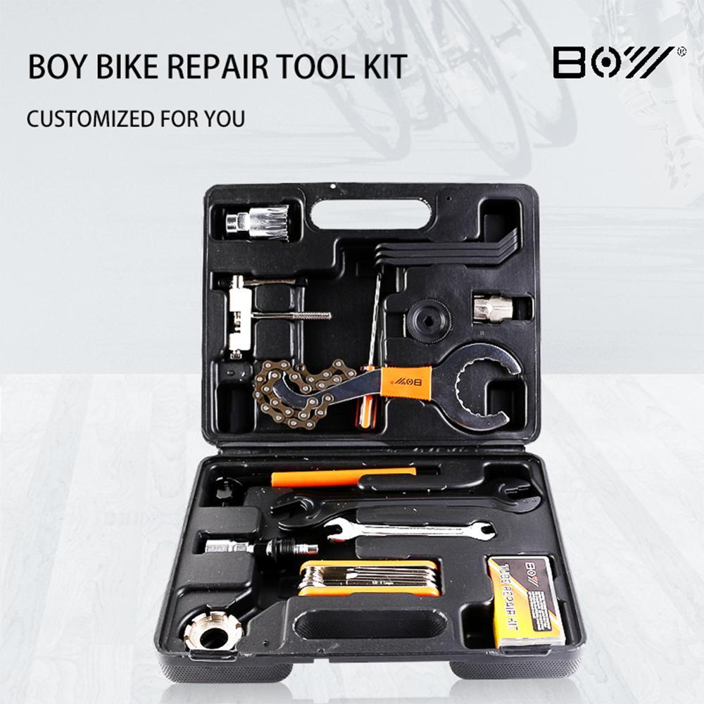 BOY 26pcs Multifunctional Bike Tool Box Road Bicycle Repair Tool Kit MTB Mountain Bike Tool Set
