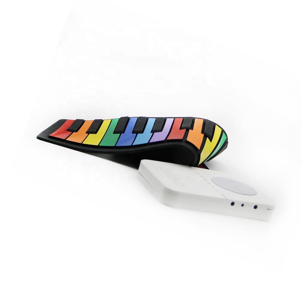 เด็กการศึกษาเครื่องดนตรีเปียโนของเล่นซิลิโคนคีย์บอร์ดเปียโน 37 คีย์ Soft Roll Up เปียโนสำหรับขาย