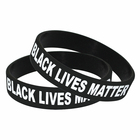Classical [ Silicone Bracelet ] Custom I Cant Breathe Silicone Bracelet Wristband Black Lives Matter In China