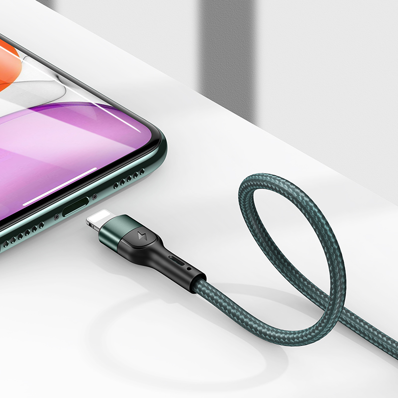 USAMS Wholesale in stock charging cable usb fast charging usb cable for iphone 12