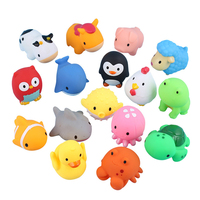 2020 New Octopus Kids Bath Toys Animal Shaped Baby Plastic Pvc Floating Shower Swimming Toy
