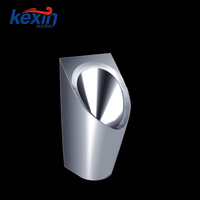 Hot Sale 304 Wall-mounted Mouth Novelty Standard Size Stainless Steel Male Urinal