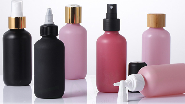 Wholesaler boston shape LDPE 120ml 4oz frosted pet medicine bottle  with twist top cap