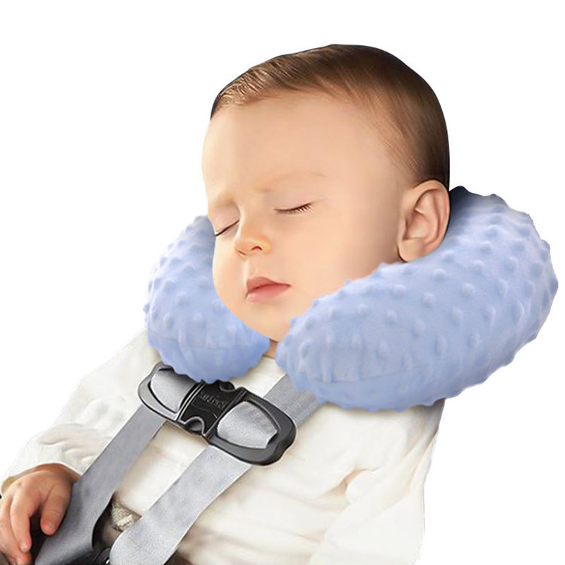 custom comfortable inflatable u shape neck pillow for Baby Kid