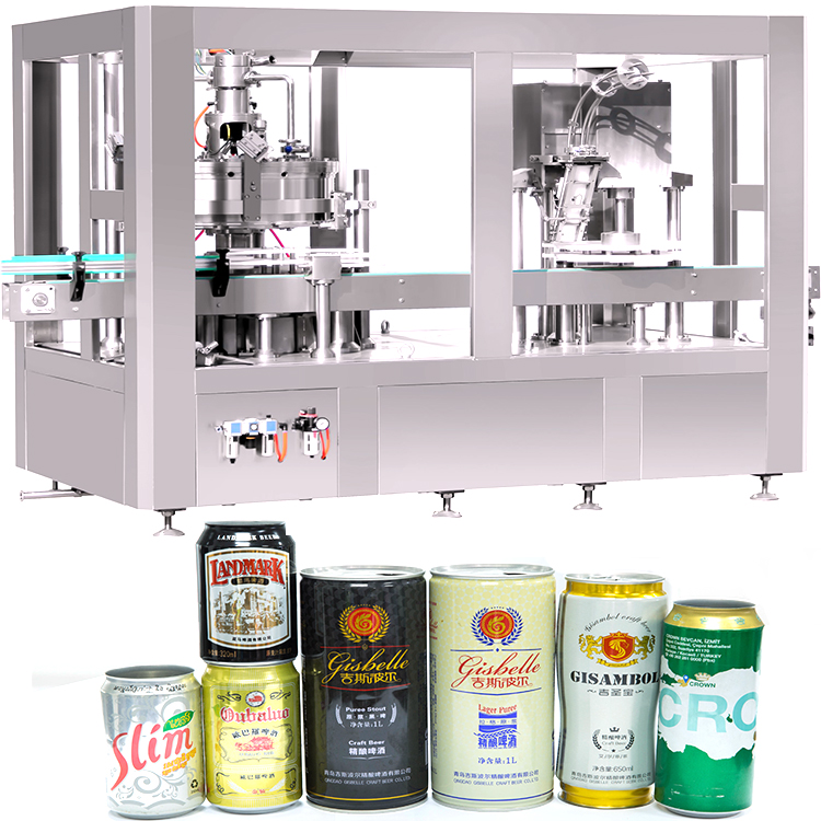 Beverage Aluminum Cans Energy Water Pop Beer Alcoholic Drink Can Filling Production Line