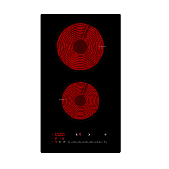Chinese Manufacturer Saving Energy 220V Cooktop 220 2 Burners Ceramic Hob Infared Built in Kitchen Top For Euro Market