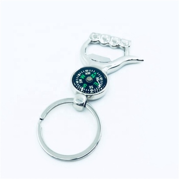 Custom good quality compass opener tool keychain