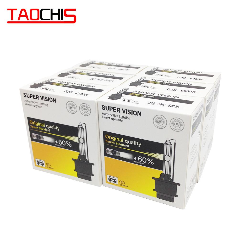 TAOCHIS एसी 12V 35W ऑटो कार छिपाई क्सीनन प्रकाश D1S D1R सिर प्रकाश D2S D2R 4300k 6000k 8000k D4S D4R प्रतिस्थापन बल्ब D3S D3R